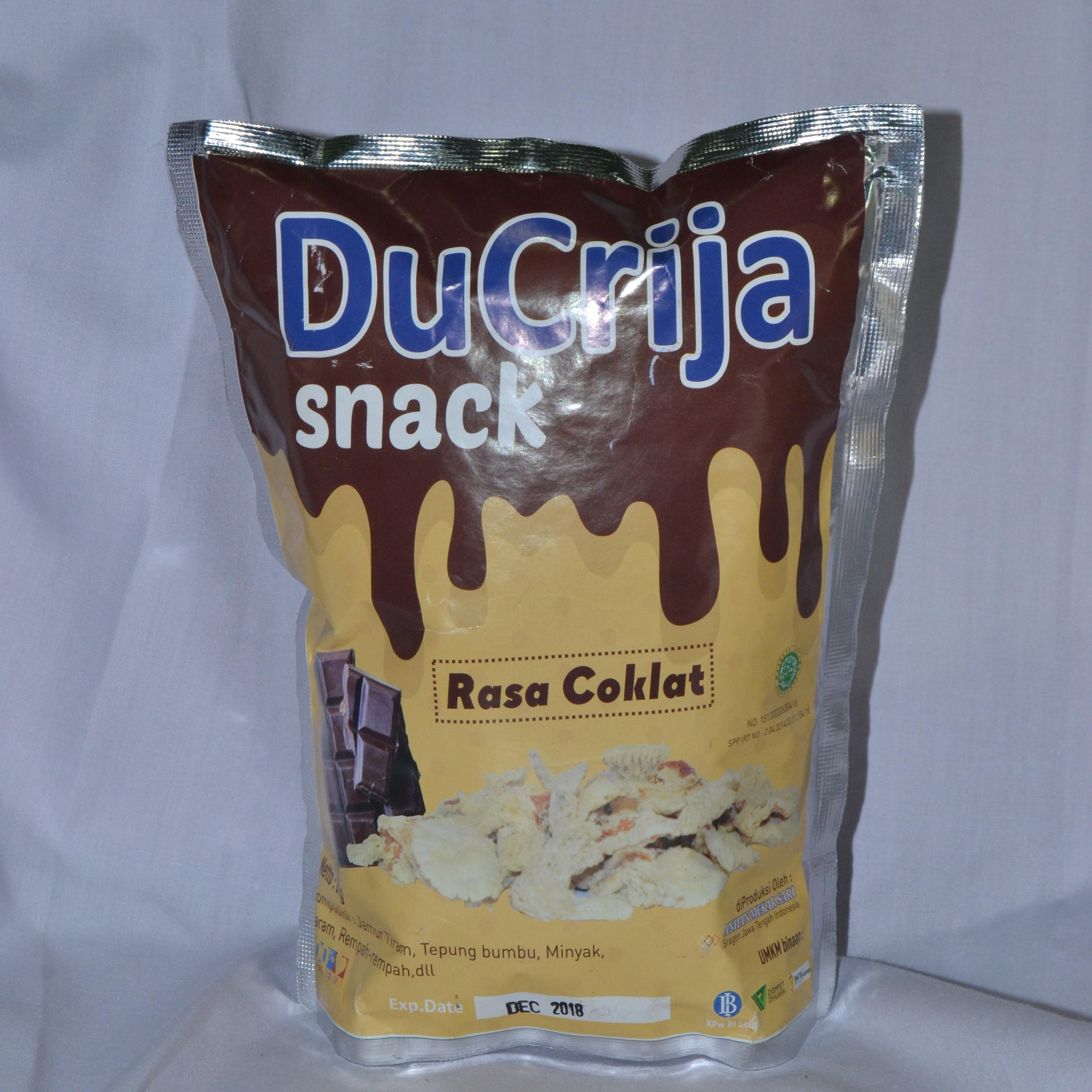 DuCrija Snack Jamur Tiram Organik - Rasa Coklat
