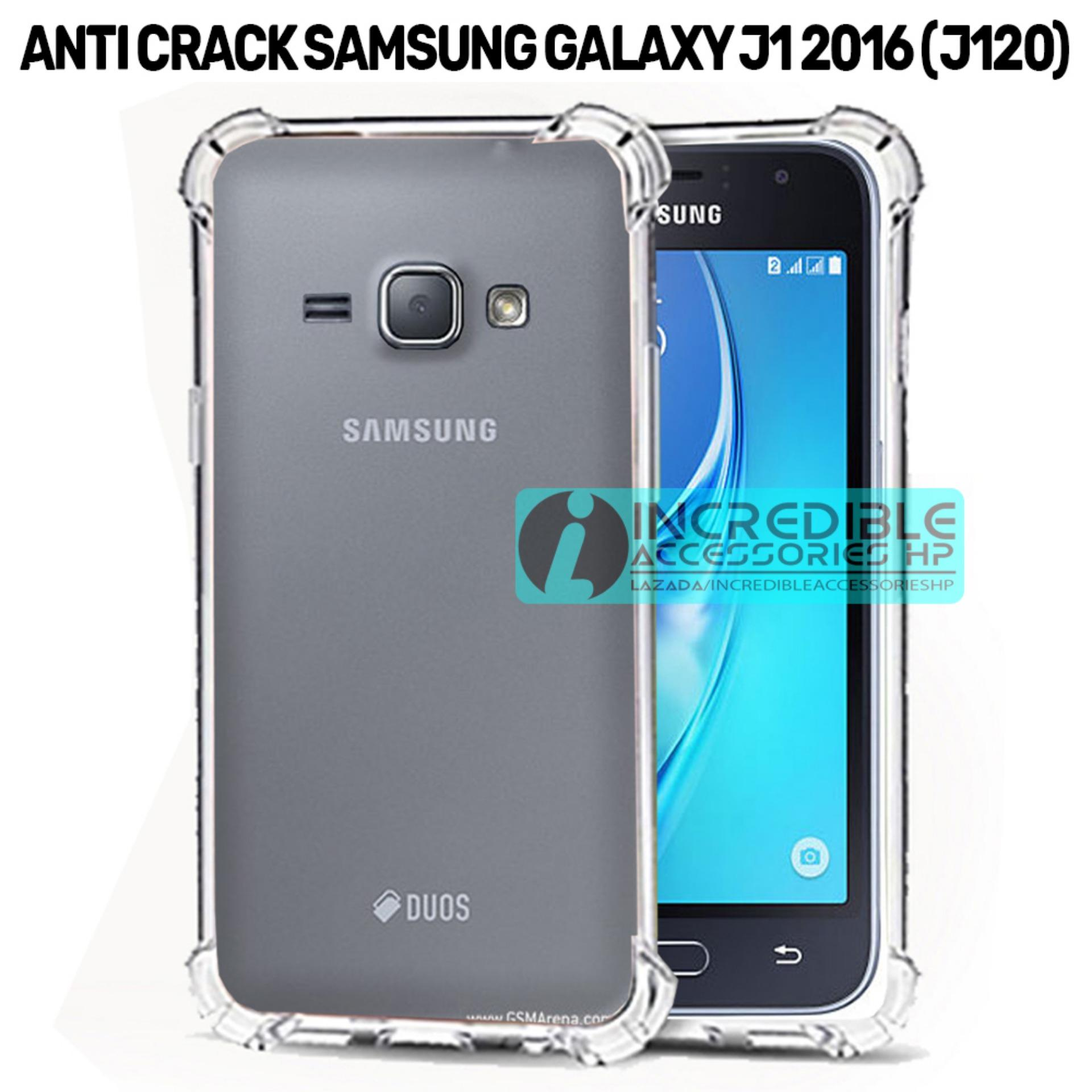 Case Anti Shock / Anti Crack Elegant Softcase  for Samsung Galaxy J1 2016 (J120) - White Clear