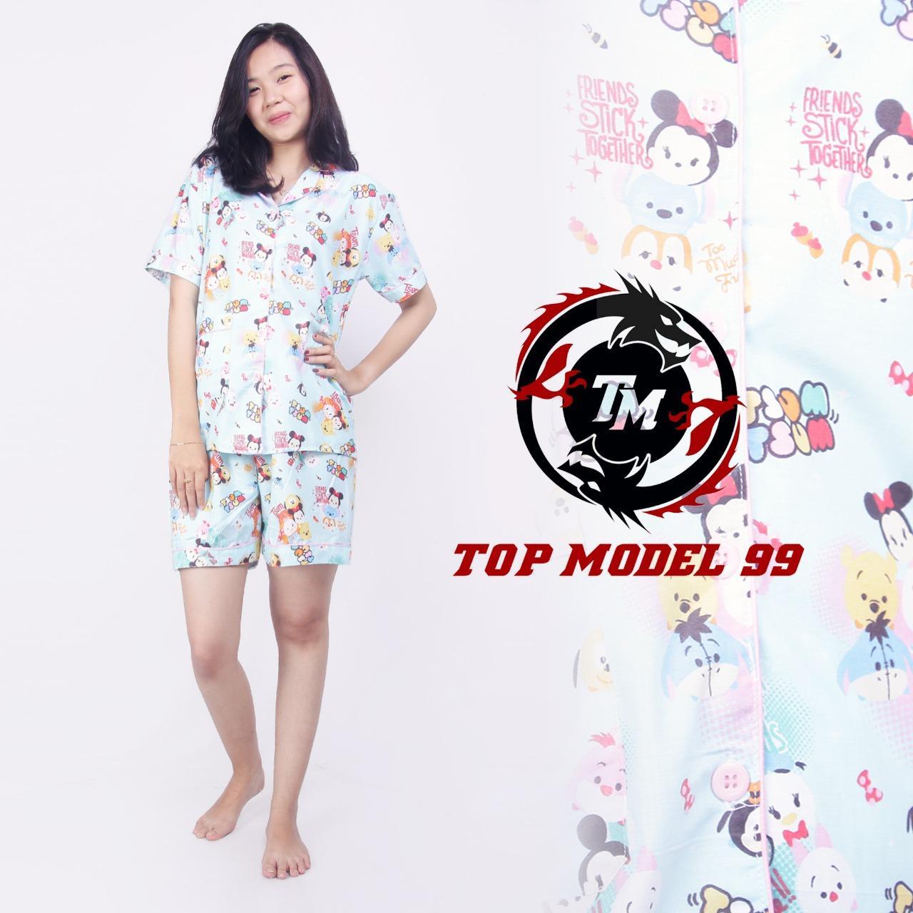 Buy Sell Cheapest Piyama Stacking Tsum Best Quality Product Deals Tsumtsum Tiger Baju Tidur Dewasa Katun Jepang Motif Blue Hp