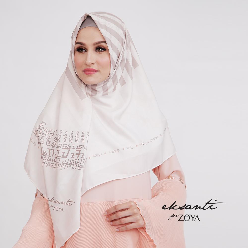 Eksanti for Zoya - Jilbab Terbaru Kerudung Segiempat - Saharsa Scarf