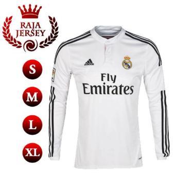Harga Penawaran Raja Jersey - Jersey Real Madrid Home Longsleeve Ls Lengan Panjang 2018/2019 GO - Futsal Sepakbola discount - Hanya Rp95.064