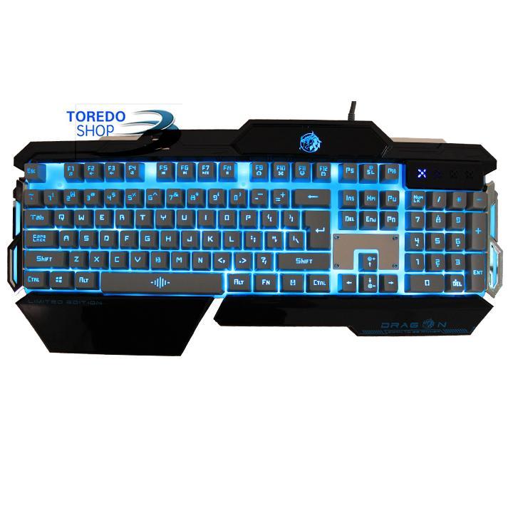 Keyboard Gaming Dragon TM-8 Anti Ghosting + Semi Mechanical Original