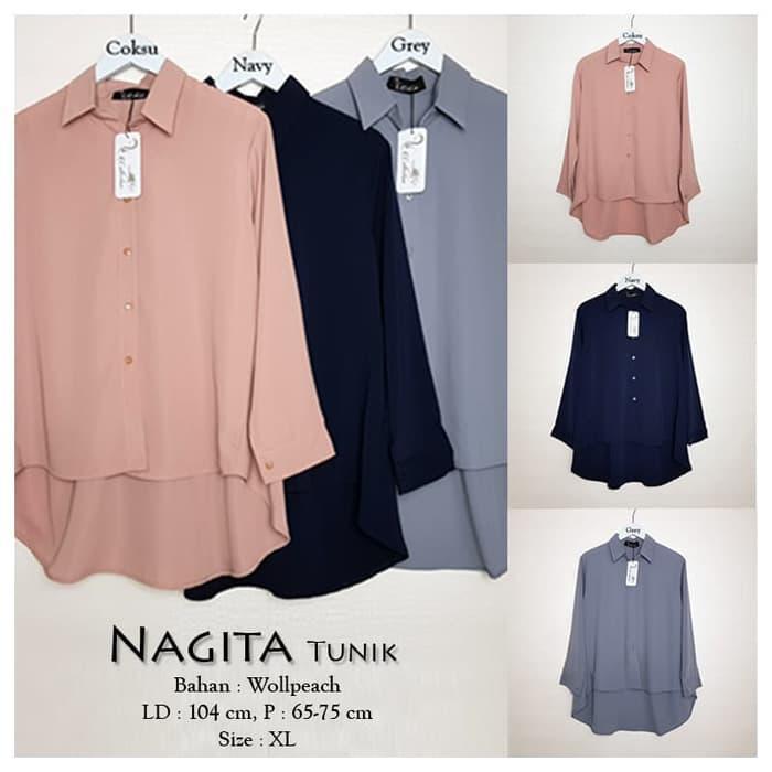 Baju Atasan Wanita Nagita Tunik Blouse Baju Muslim XL 6746122913