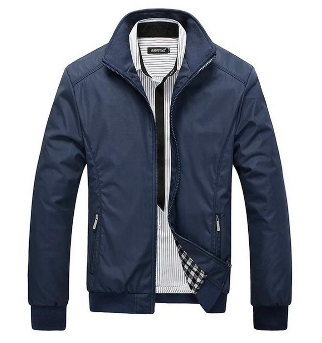 Jaket Virendra Biru Dongker Polos All About Soccer Parasut Distro Keren Pria Promotion