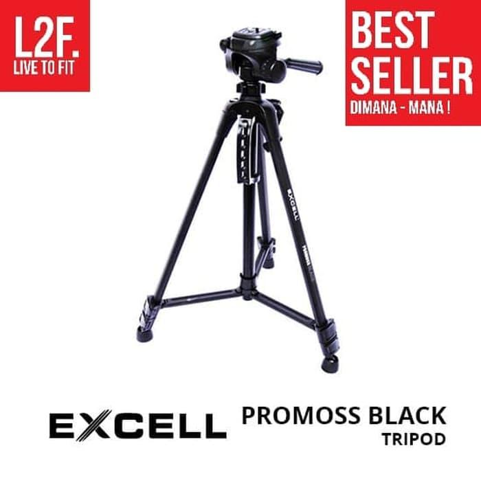 Best Top Seller!! Tripod Excell Promoss Black Takara Somita 100% Original Asli Murah - ready stock