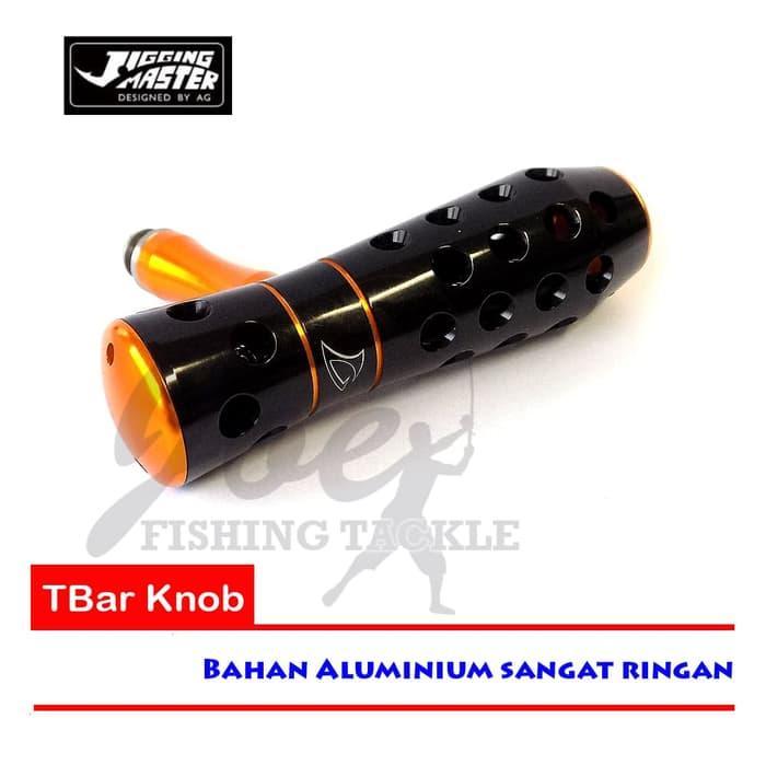 Obral Murah Jigging Master T-Bar Knob Aluminium Black Gold - Reel Pancing Mancing Harga Grosir