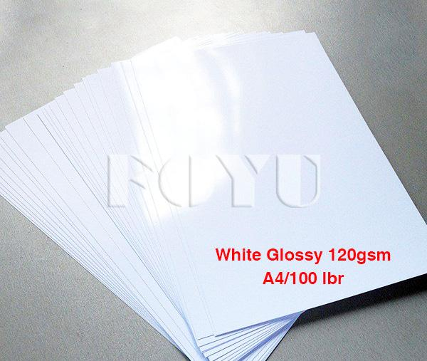 Kertas Foto Inkjet White Glossy Water Proof 120gsm A4