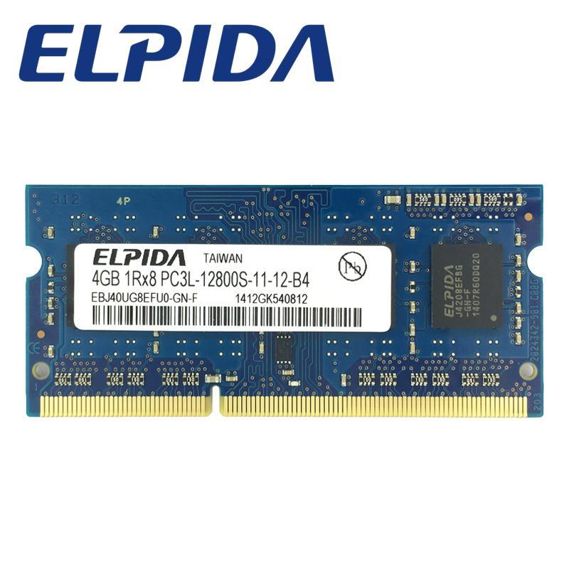 ELPIDA DDR3L 4 GB 1600 MHz PC3L-12800 So-dimm Ram Memori Laptop 4 GB Memoria Notebook 1.35V low voltage