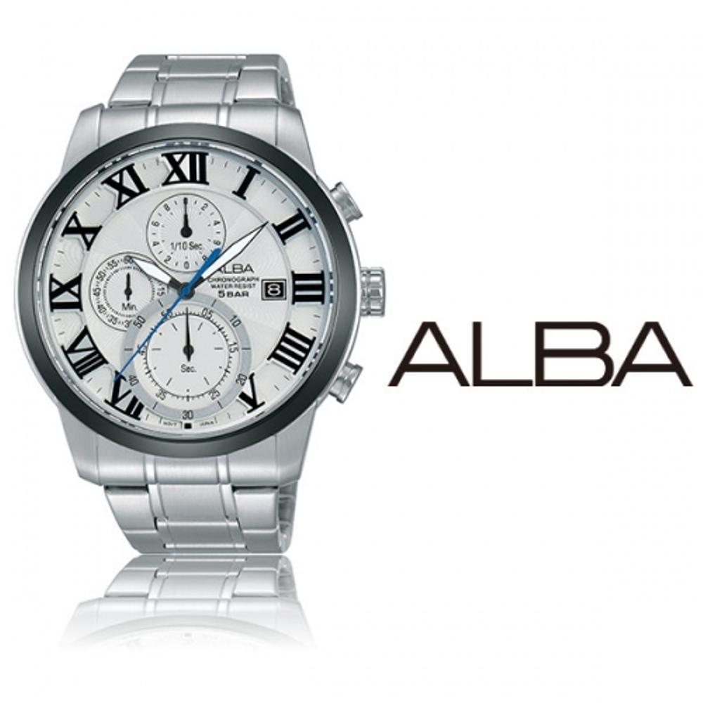 Alba Prestige AM3169X1 Chrono Roman Numeric Hours | Jam Pria AM3169 Best N2jt