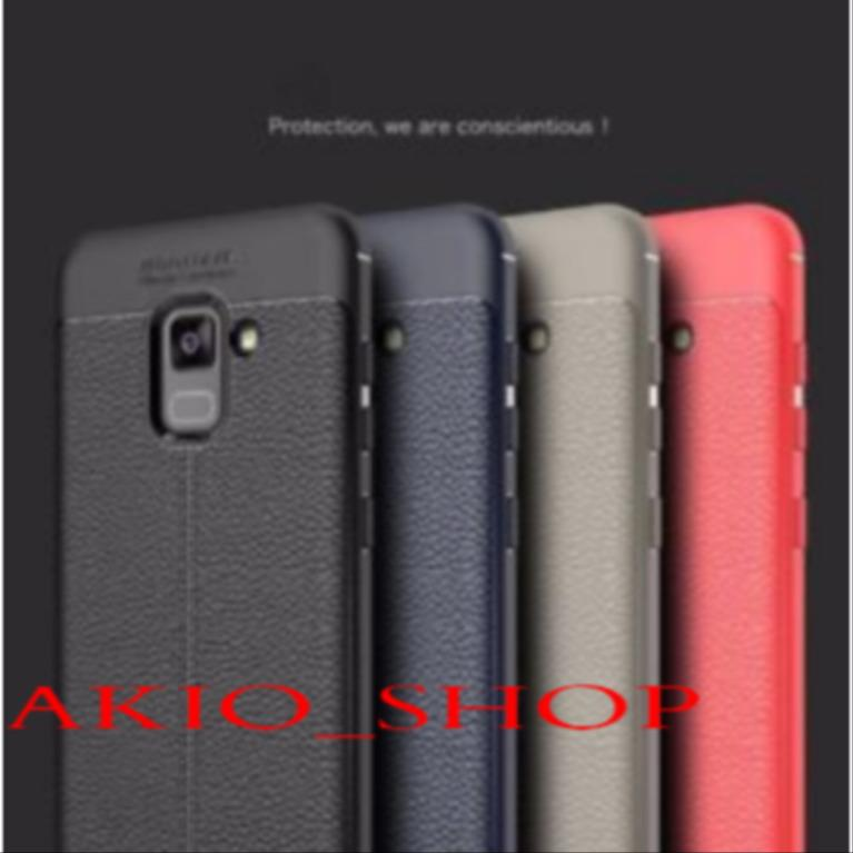 Autofocus Case For SAMSUNG GALAXY A8 BIASA Back Cover Luxury Silicone Leather Look TPU SOFT