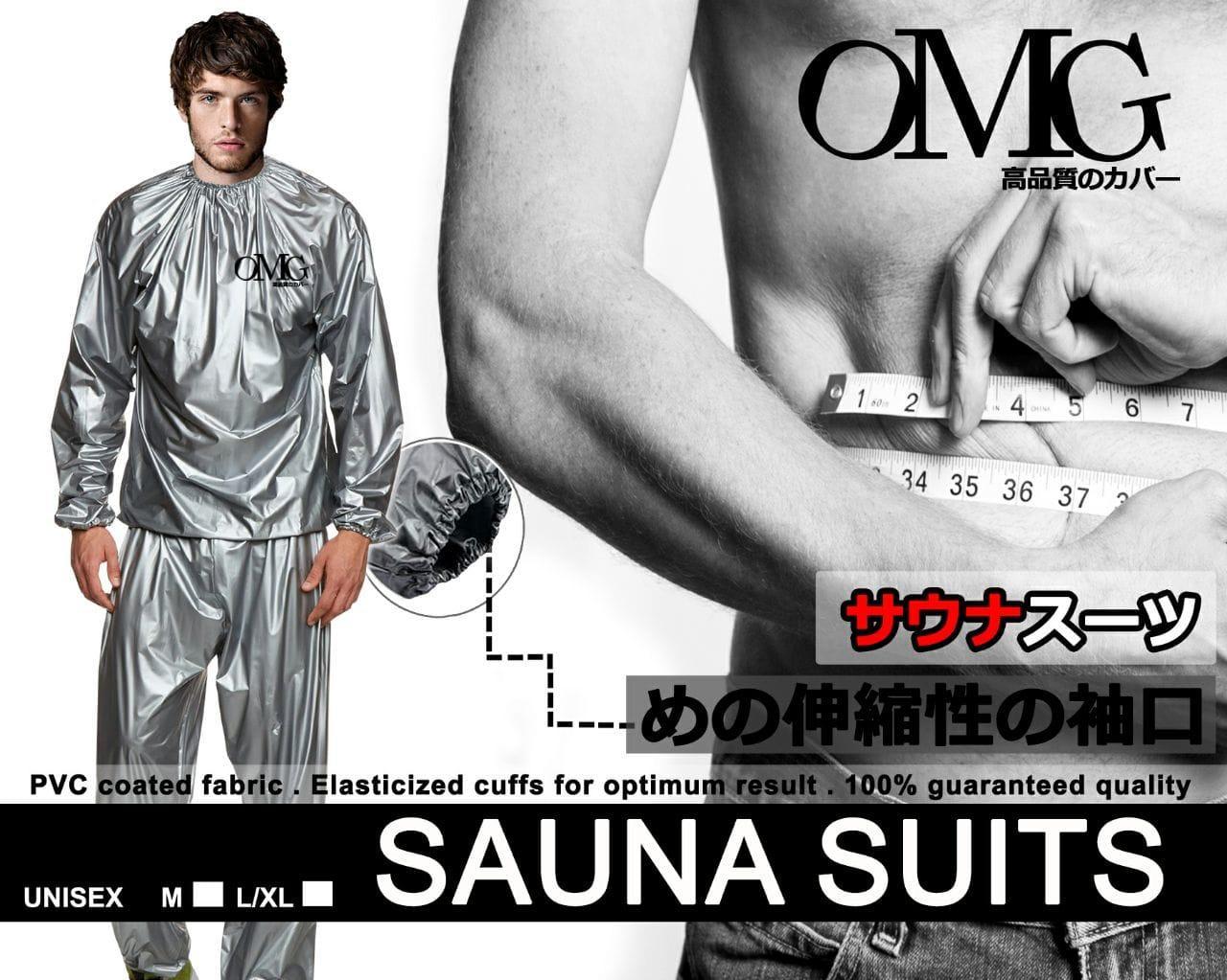 HOT DEALS!!  Baju Sauna Suit OMG Jaket Celana Olah Raga Pria Wanita Best Quality - Perak, XL-XXL TERMURAH / MURAH / PACKING RAPIH / PENGIRIMAN CEPAT