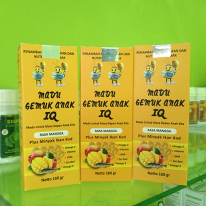 Hemat 10%!! Madu Gemuk Anak Iq + Minyak Ikan Kod Rasa Mangga (Nutrisi Otak Anak ) - ready stock