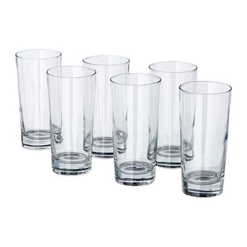 PROMO!! IKEA GODIS Gelas / Cangkir / Mug Minum, isi 6 pcs, 40 cl, Kaca Bening MURAH /  BUBBLE 3 LAPIS / ORIGINAL / IKEA ORIGINAL
