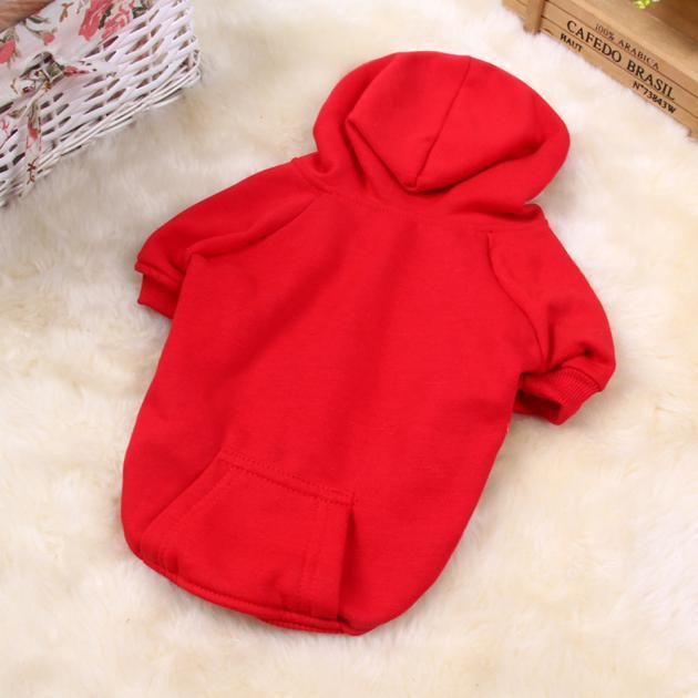Pet Dog Clothes Puppy Thick Warm Sweater Shirt Coat Apparel For Winter Red M