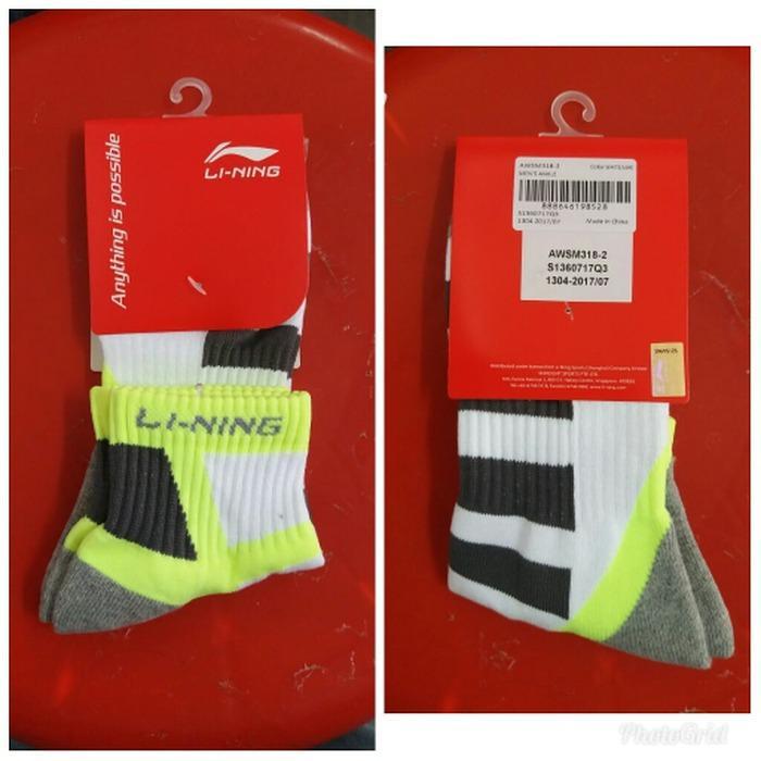 Kaos Kaki Badminton Bulutangkis Lining Ori AWSM318-2
