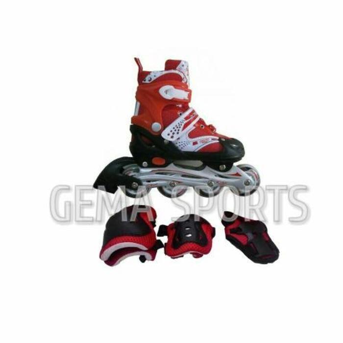 sepatu roda inline skate bajaj 6032 free dekker /  sepatu roda terbaru / sepatu roda anak & dewasa / sepatu roda lengkap /  sepatu model keren