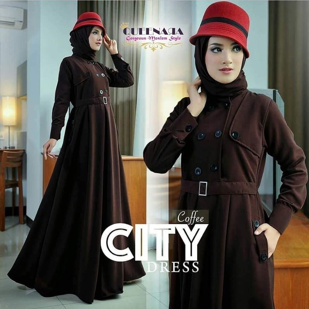 JAKARTA GROSIR -  city dress st Fashion Dress / Atasan / Tunik / size M, L dan XL
