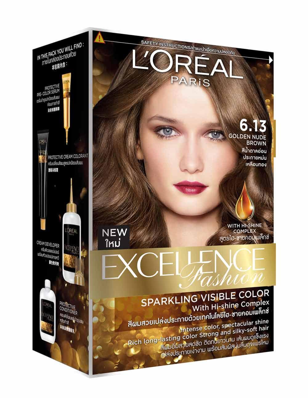 Cat Rambut Permanent Temporary Hair Chalk Kapur Pewarna 24 Warna Temporer Loreal Paris Excellence Fashion 613 Golden Nude