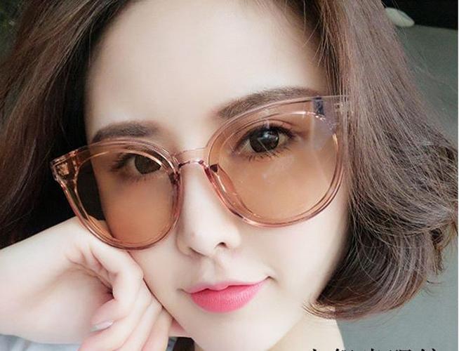 kacamata fashion wanita coklat transparan women sunglasses jgl038