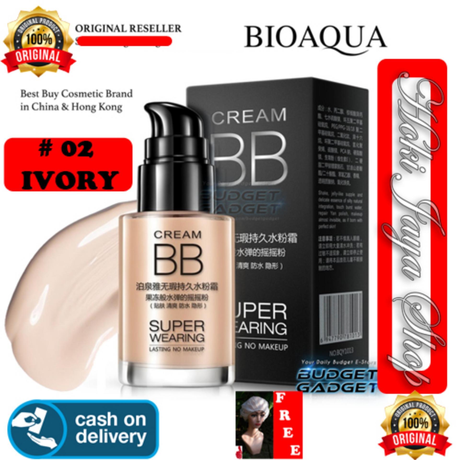Bioaqua Bb Cream Super Wearing Lasting Concealer Foundation Make Up Ivory White 02 Cushion Exquisite Delicate Plus Refill Hoki Cod