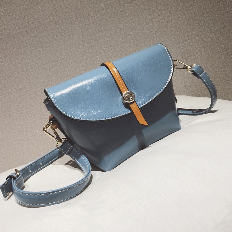 Dalam Tas Wanita Super Tas Longchamp Kulit Terang Kulit Minyak Lilin (Biru)