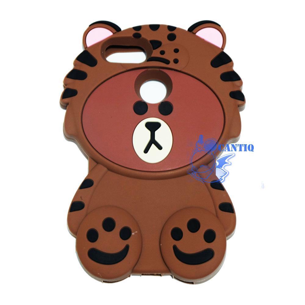 QCF Soft Case Xiaomi Mi 5X / Silicone 3D Xiaomi Mi 5X Kostum Singa / Softcase Kartun Bayi Singa / Case 4D Xiaomi Mi 5X / Casing Xiaomi Mi 5X / Casing Boneka / Casing Unik Bear With Baju Singa / Casing Lucu - Coklat