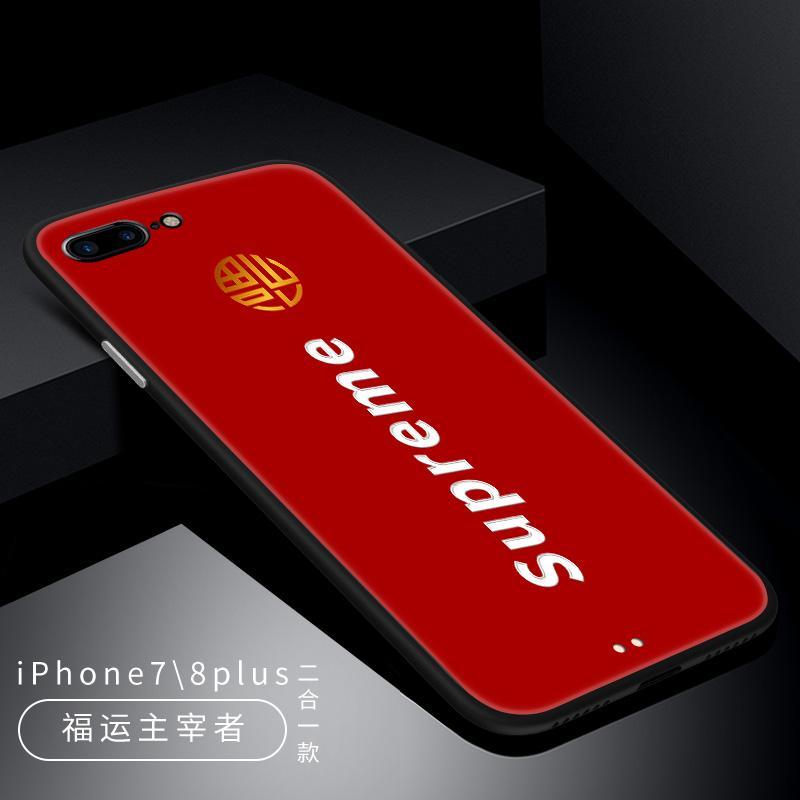 Lucky Number Selubung Ponsel 8 Plus/7 Plus Asli iPhone Apple Identitas Tahun Baru Tahun Baru
