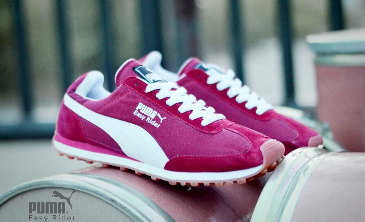 Sepatu Sport Pria Puma Easy Rider Merah Terlaris Di LAZADA