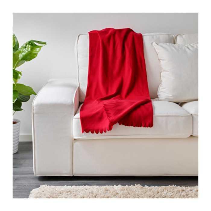 Best Seller!!! IKEA Polarvide - Selimut Fleece Lembut Unik Murah Minimalis