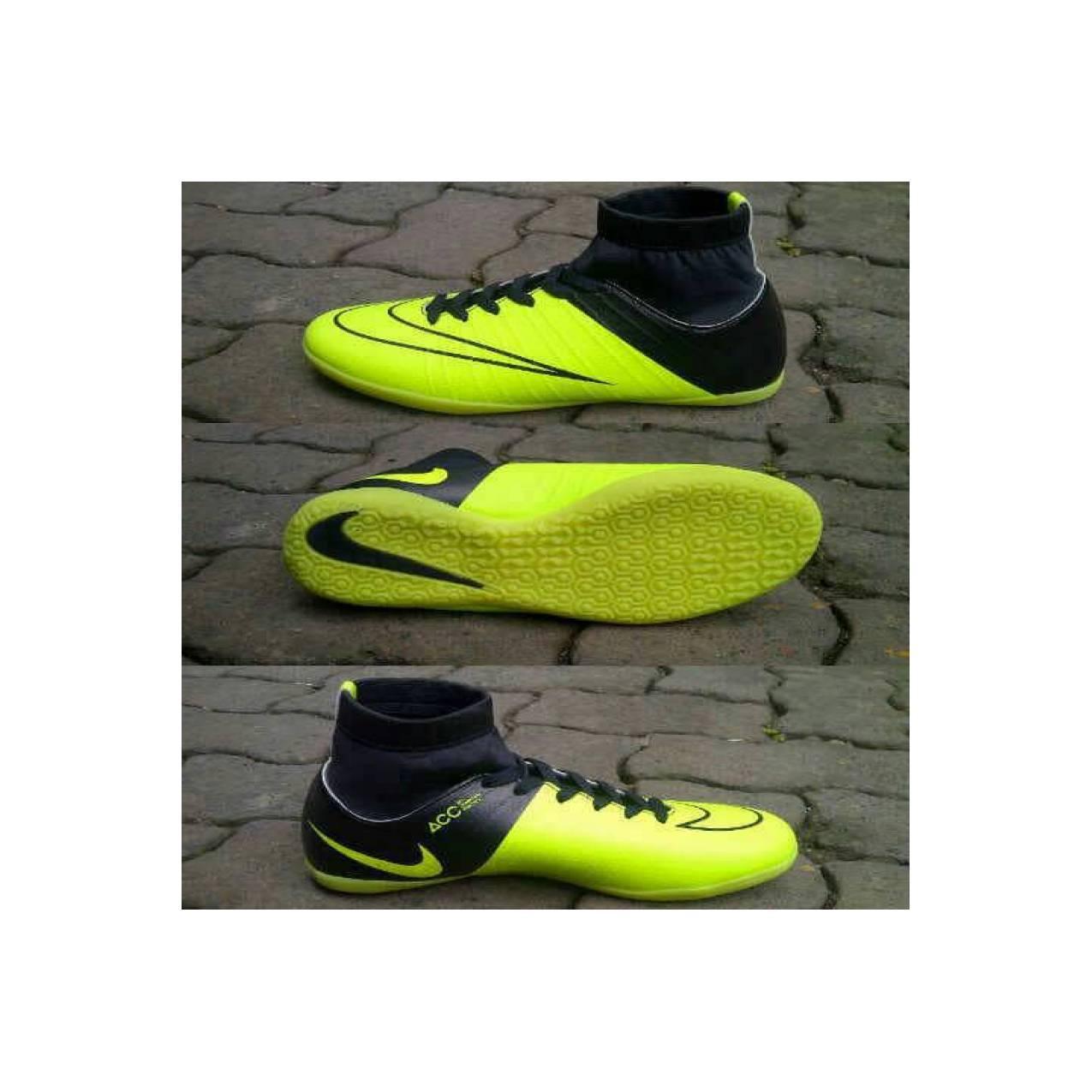 Promo Sepatu Futsal Nike Acc Mercurial Hijau Kombinasi Hitam