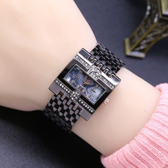 Jam Tangan Wanita / Cewek Murah Guess SK880 Rantai Black