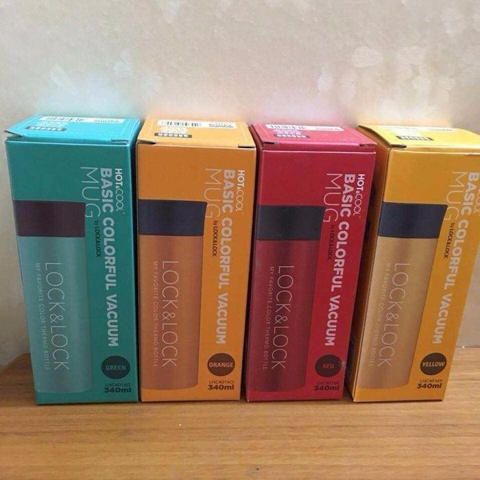 BEST PRODUCT Botol Minum Lock Lock Pekanbaru Colorful Tumbler 340ml