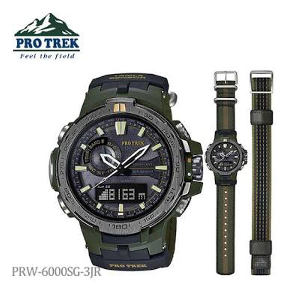 Casio Protrek Original Prw-6000sg-3 JAM TANGAN PRIA  TRIPLE SENSOR MMBKL
