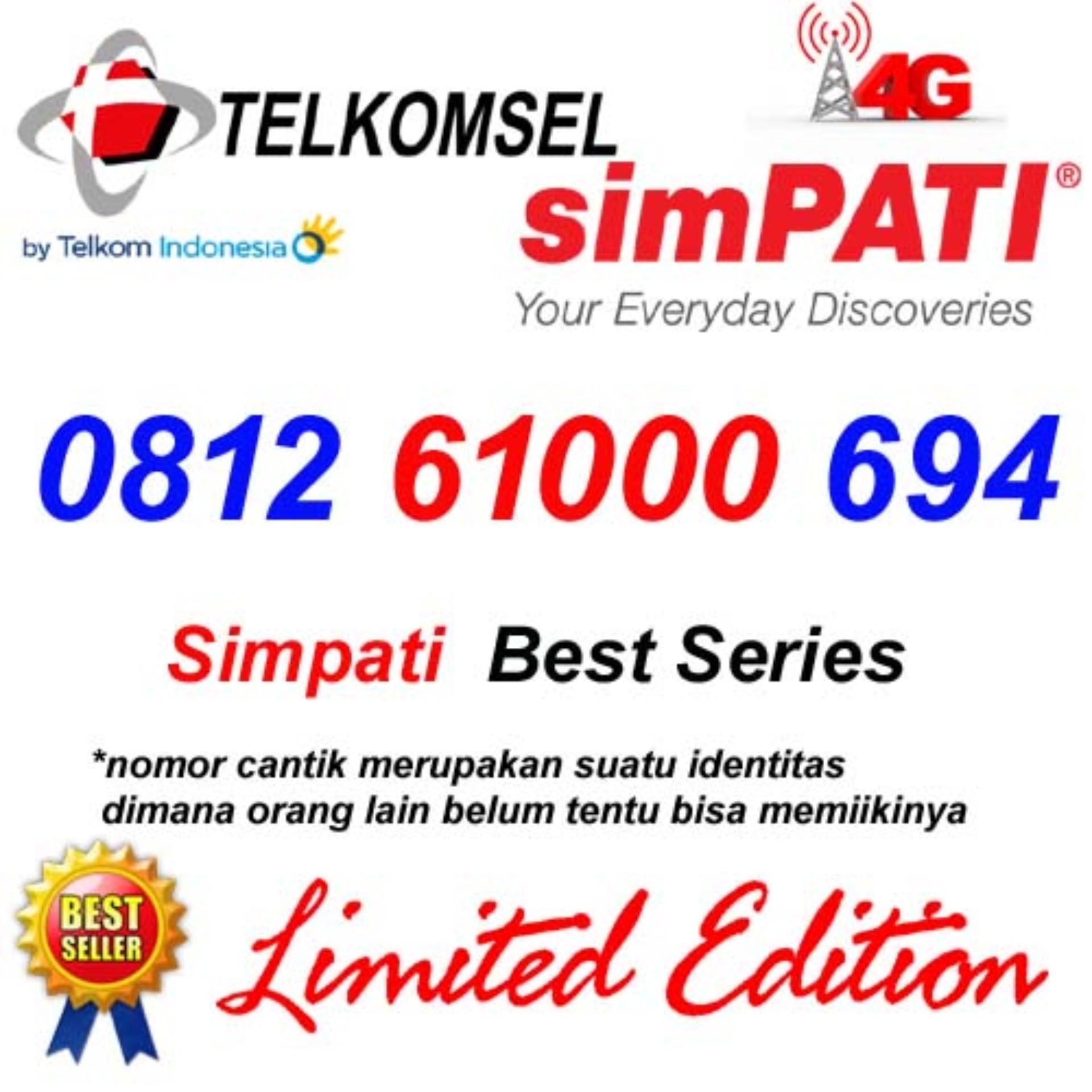 Telkomsel Simpati 4G Lte 0812 61000 694 Kartu Perdana Nomor Cantik