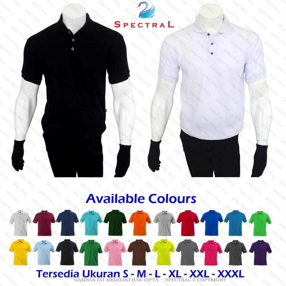 HARGA PROMO ☆ SpectraL ☆ Premium Polo Shirt ☆ Continues Stock - 22 Pilihan  Warna Konsisten 8c67dbad92