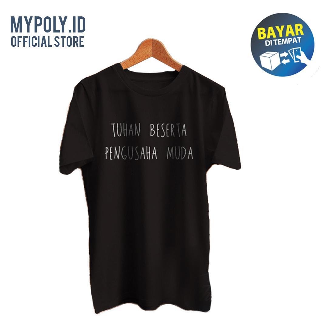 Kaos Premium Mypoly.ID / Baju Distro / Tshirt Casual Pria / Fashion Atasan / TUHAN BESERTA PENGUSAHA MUDA Kaos Vanwin BKSPC