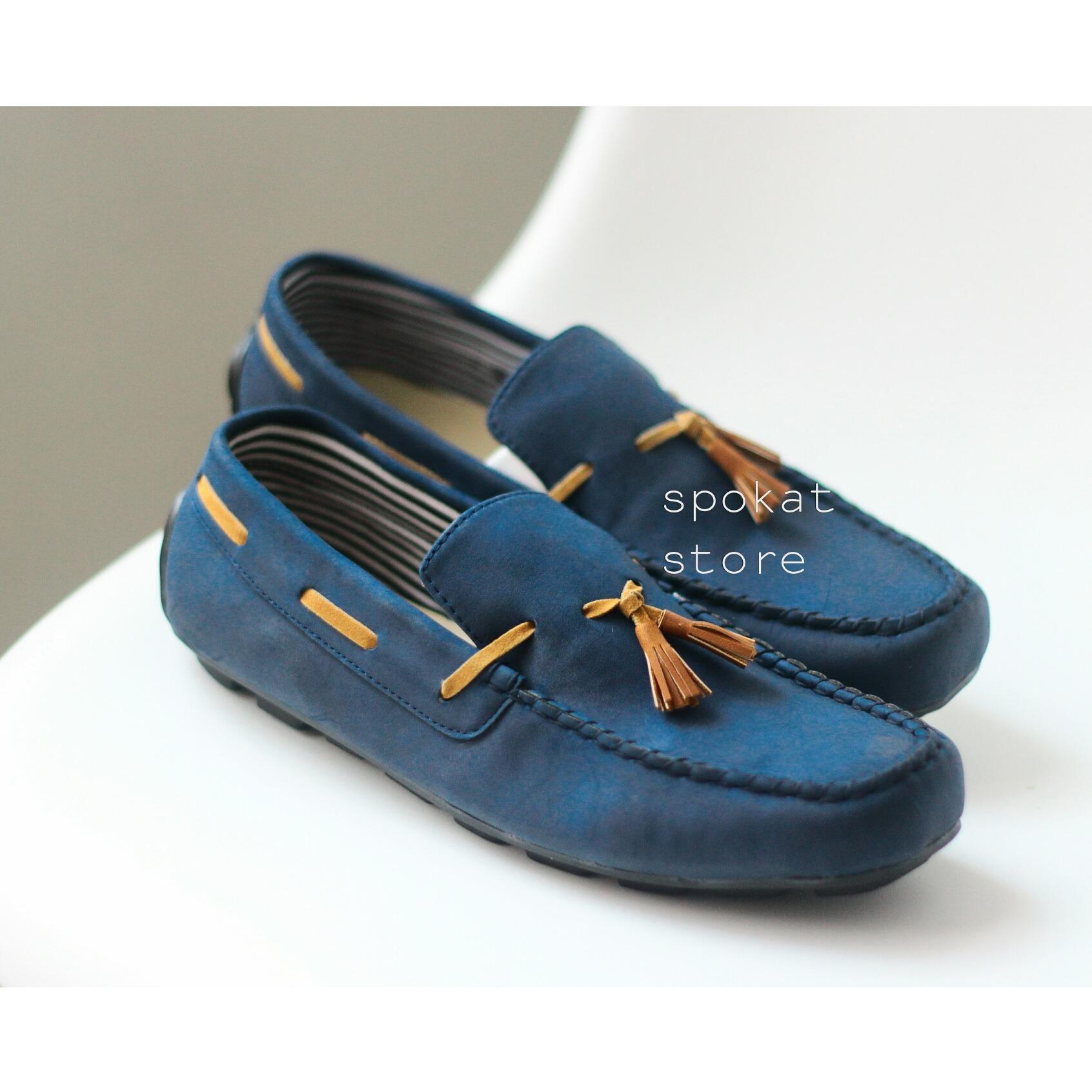 sepatu kasual slop formal casual tali slip on loafers dhoom original pantofel kickers
