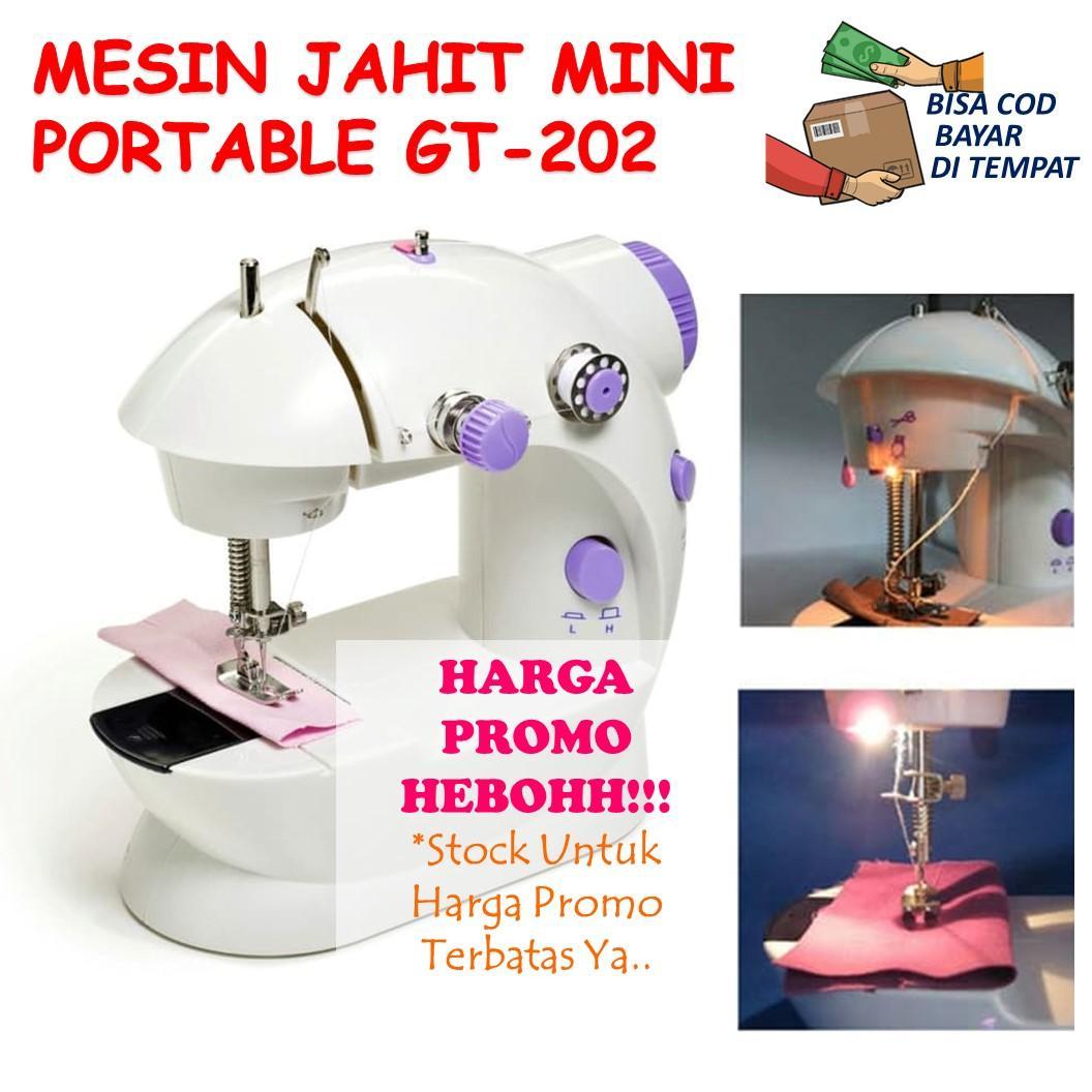 Family Choice Mesin Jahit Mini Portable Mudah Dibawa SM-202 Sewing Machine Pedal Praktis Jahit