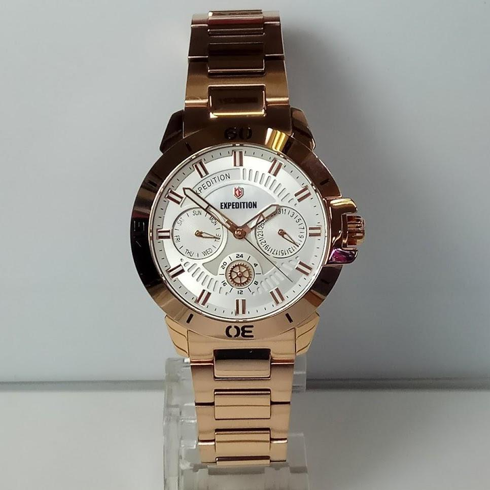 Buy Sell Cheapest Expedition 6603mcbbrba Rose Best Quality Product E6700m Black Brown Original Leather Jam Tangan Wanita E6758bf Multifunction Rosegold Stainless Steel
