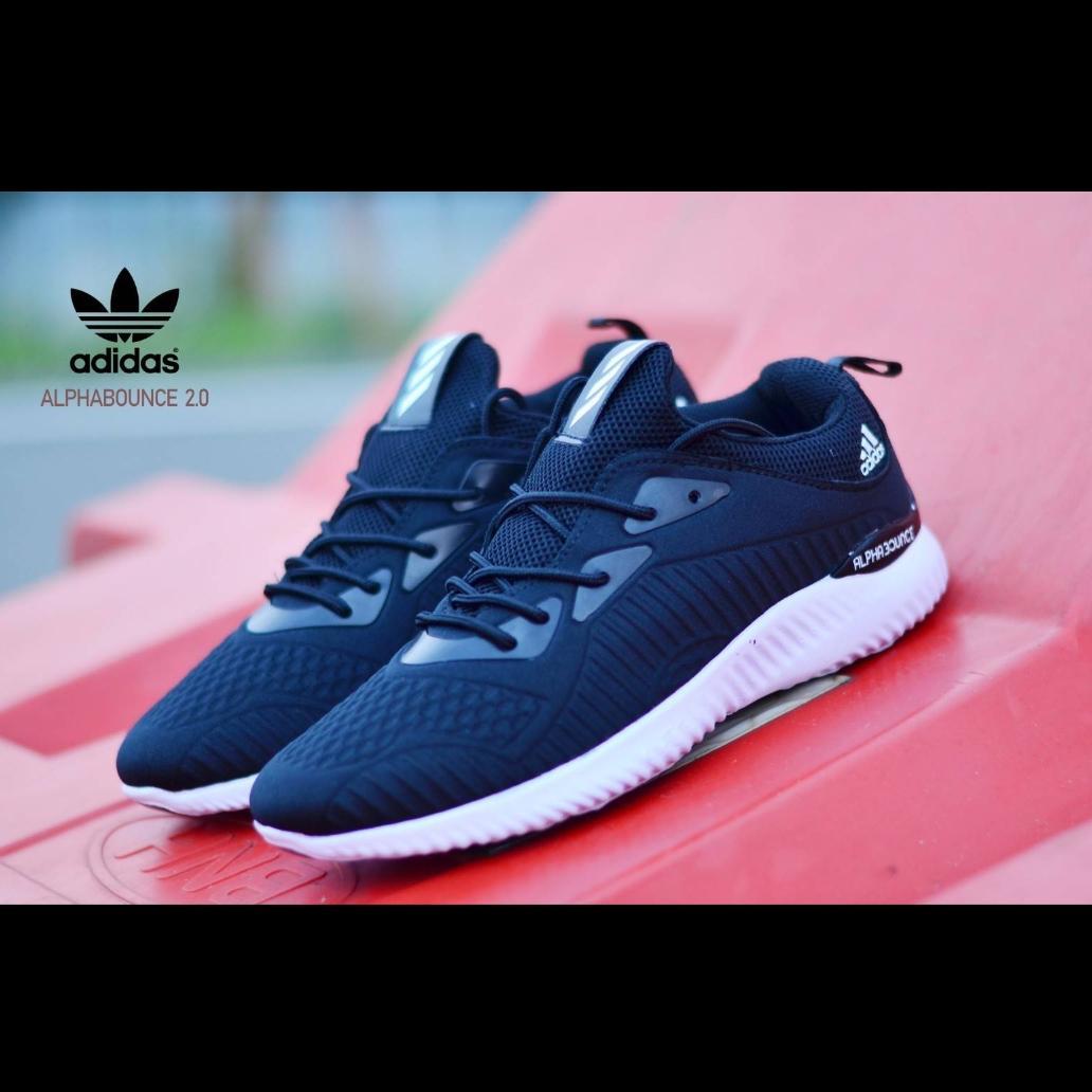 Buy Sell Cheapest Sepatu Termurah Sneaker Best Quality Product  Adidas Sneakers Olahraga Running Alpha Bounce Pria Alpabounce Racer Promo Fashion Lari Jogging Senam Gym