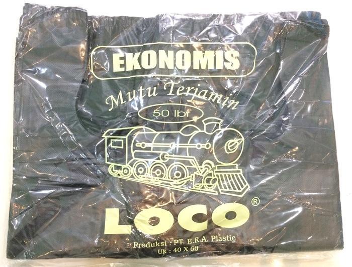 Kantong Plastik Loco Ekonomis Hitam Uk 40 - ready stock