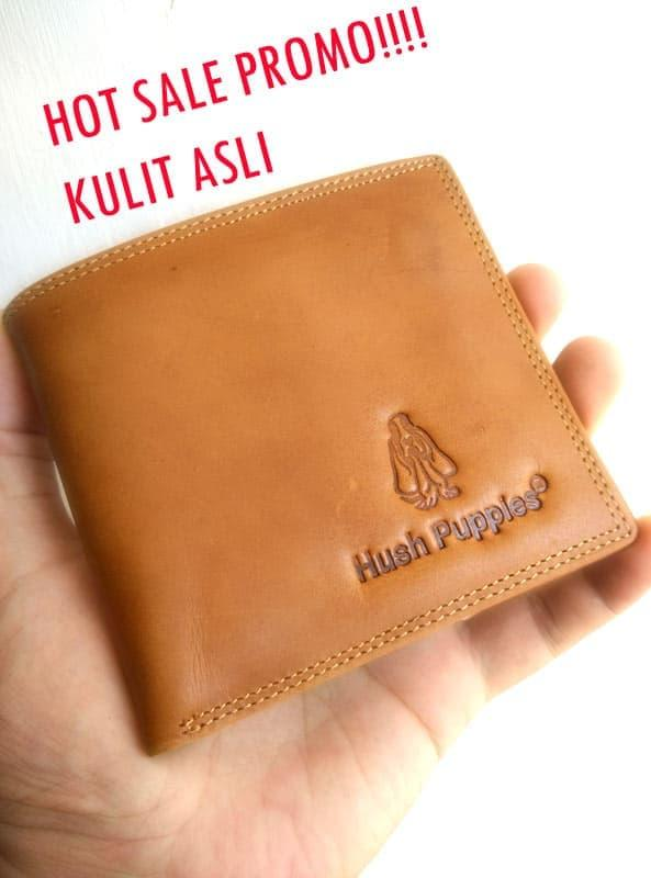 Dompet hush puppies kulit asli Terkini