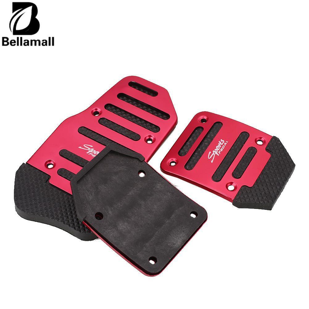 Bellamall: Mobil Aluminium Paduan Antislip Manual Brake Clutch Accelerator Tapak Kaki Pedal Pad Board Set