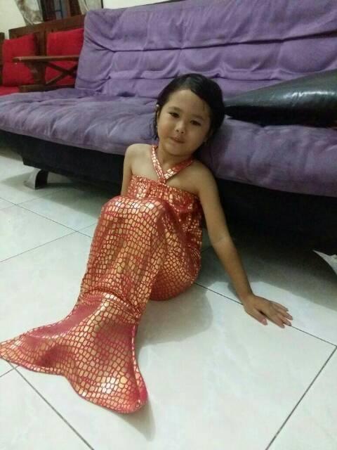 Baju Duyung Mermaid Baju Renang Kostum Mermaid Anak Grosir