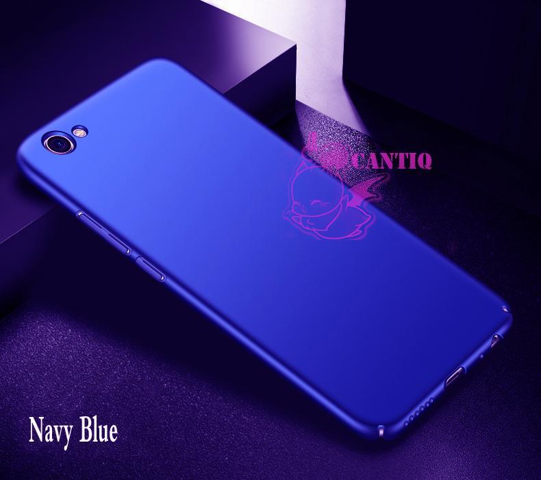 QCF Case Vivo Y66 Hard Slim Blue Mate Anti Fingerprint Hybrid Case Baby Skin Vivo Y66 / Baby Hardcase Vivo Y66 / Baby Skin Vivo Y66 / Casing Vivo Y66 / Case Vivo Y66 - Biru / Blue