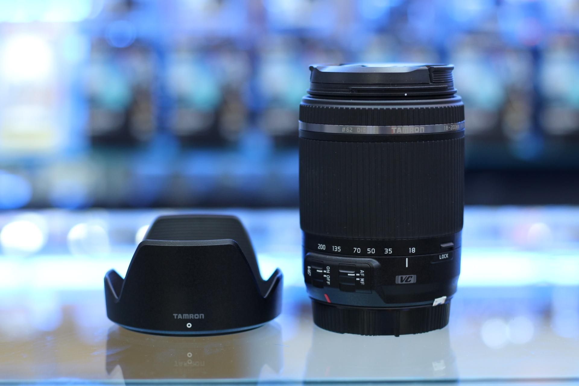 Lensa Kamera Tamron 18-200 VC Bonus Filter Pelindung Lensa