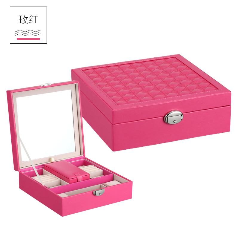 Putri Cincin Kalung Anting Kotak Kosmetik Bahan Kayu Perhiasan Kotak