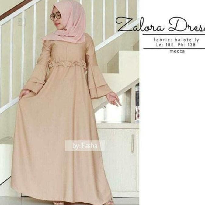 Flash Sale Baju Atasan Muslim Murah / Gamis Murah Zalora Dres Mocca | Baju Lebaran Muslim Wanita