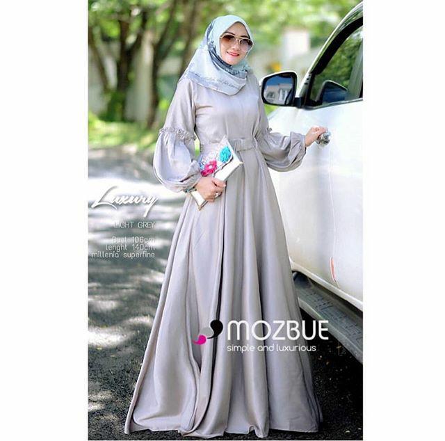 Gamis Murah Luxury Dress Grey