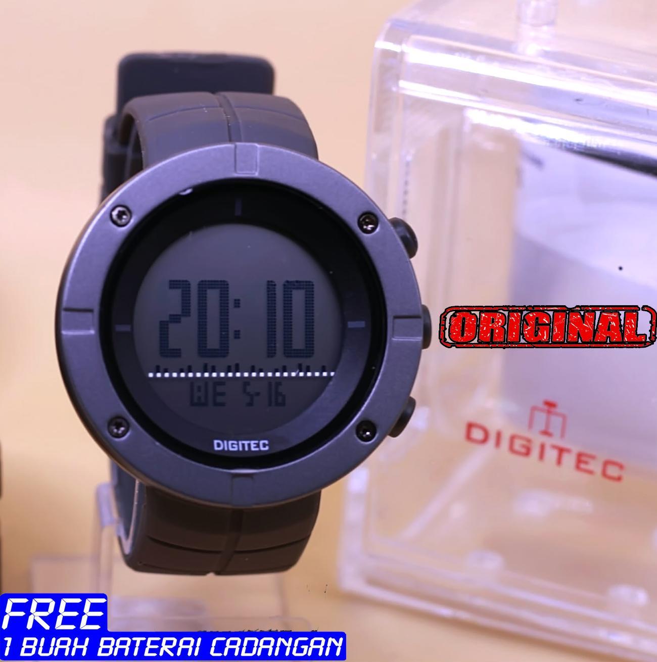Cobain Saja Produk Fungsi Sensor Pada Jam Tangan Digitec Berkualtis Dg2011 Dg2066 Couple Dual Time Rubber